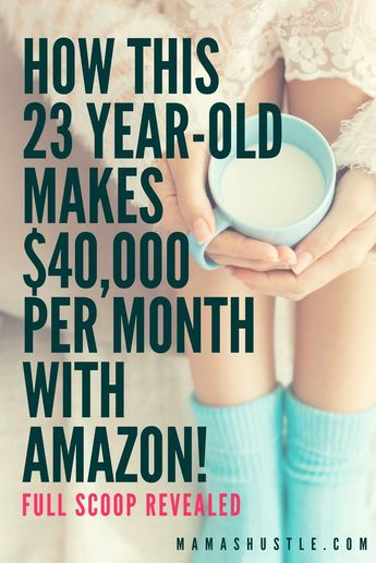 Oh my gosh, this 23 year old earns $40K per month from Amazon. This the real deal and she shares all her secrets for free!   mamashustle.com