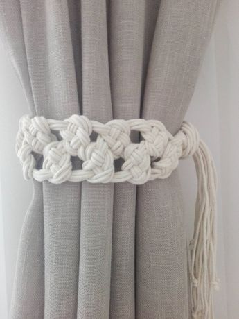 Macrame Curtain Tie Backs 2 Pcs Cotton Rope Nursery