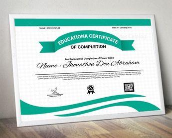 Educational Certificate Design Template 5.99