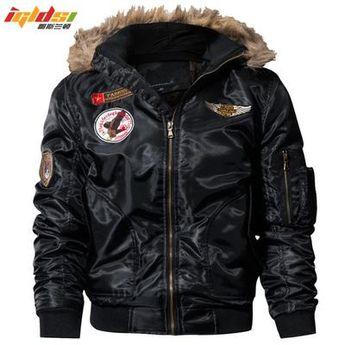 702b81eea Men Genuine Leather Motorcycle Jacket Bomber Biker Hoodie