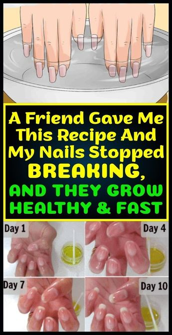 A Friend Gave Me This Recipe And My Nails Stopped Breaking, And They Grow Healthy & Fast