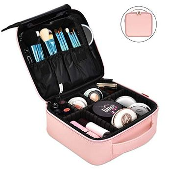 NiceEbag Professional Makeup Case for Make Up Artist, Waterproof Makeup Bag for Men and Women, Portable Cosmetic Organizer Easy to Carry for Travel, Cosmetic Case with Adjustable Dividers