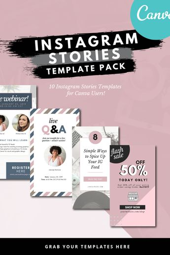 Canva Instagram Stories Templates
