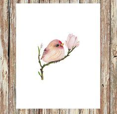 Watercolor birds, baby bird, bird prints, bird painting, bird watercolor, bird…