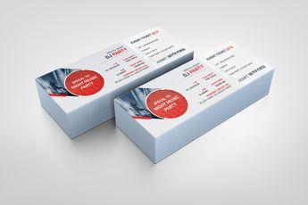 PSD Sleek Ticket Template - Graphic Templates