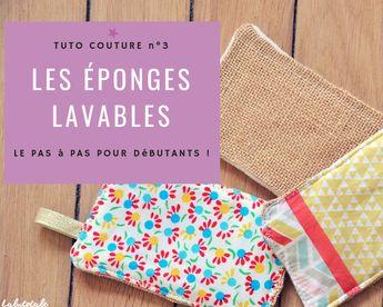 ( Tuto Couture ) Zéro déchet : mes petites éponges lavables ultrafaciles !  #tuto #couture #diy #couture2019 #couturefacile