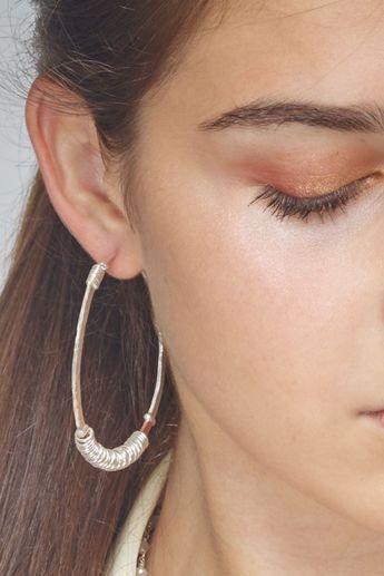 Boucles d'oreilles créoles en argent et cuivre