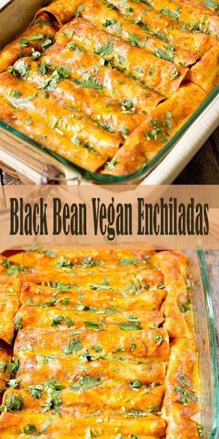 Blαck Beαn Vegαn Enchilαdαs- Vegan Recipes