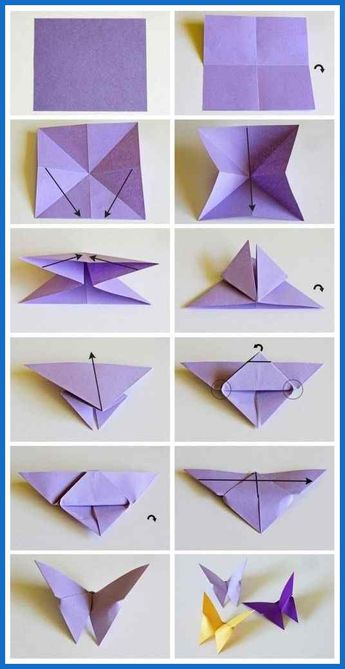 origami butterflies how to make a paper butterfly easy origami ...