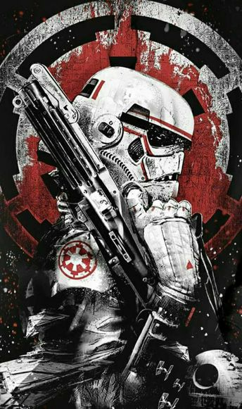 This poster makes him look menacing, but then, if you have seen a stormtrooper in action, you know they can't aim.
