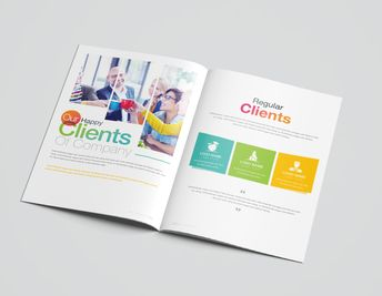 16 Pages Rainbow Elegant Corporate Brochure Template - Graphic Templates