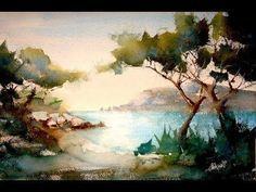 You'll see a simple landscape. Watercolor technic for beginners (or not) - YouTube