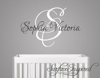 Nursery Wall Decals Sophia Victoria Name Decal For Boys And S Rooms Custom