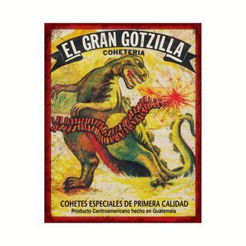 Dinosaur/Godzilla • Vintage Firecracker Label from Guatemala T-Shirt   TeePublic