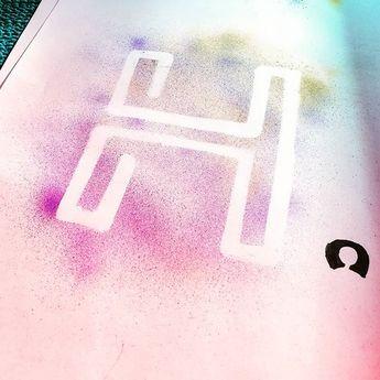 Paintbrushing my logo . . . . . . . . . . . . . . . . . . . . . . #art #music #HouseHälter...  Paintbrushing my logo . . . . . . . . . . . . . . . . . . . . . . #art #music #HouseHälter #House #instagood #airbrush #german