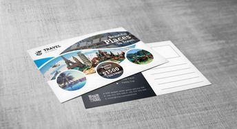 Creative Travel Postcard Template - Graphic Templates