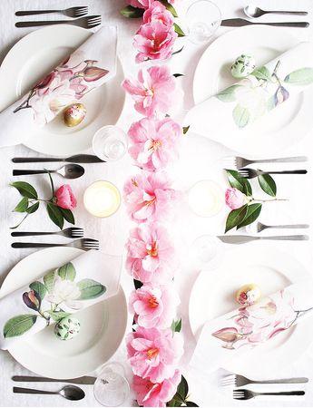 DIY Magnolia Printable Napkins + Easter Tablescape