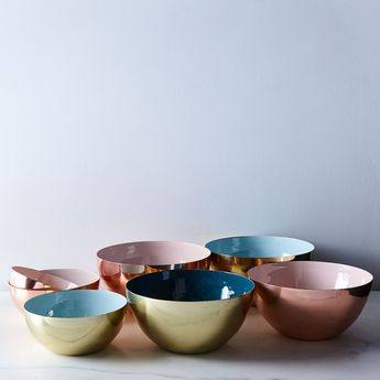 [OLD] Copper, Brass, and Enamel Colored Louise Bowls