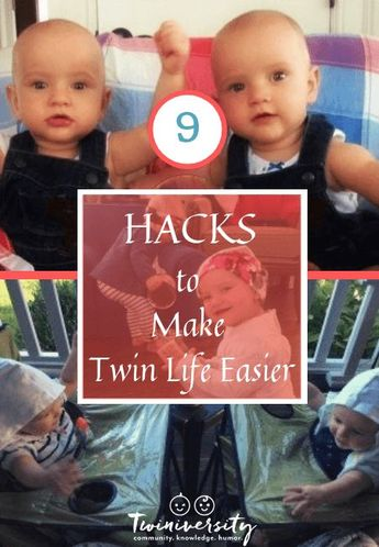 Learn 9 hacks to make twin life easier from a mom of twins who has been there, done that and will help save you time and effort.