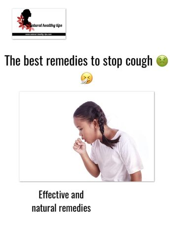 9 Best effective remedies to stop cough