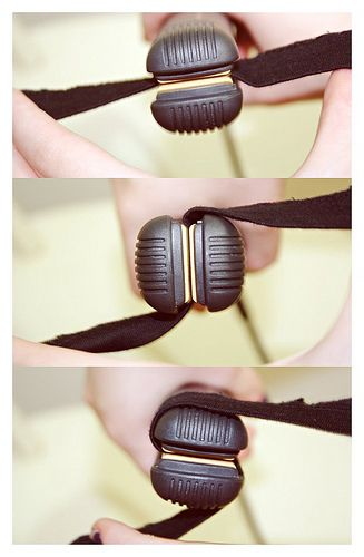 Contrary to popular belief, stick your bobby pins in wavy side down.