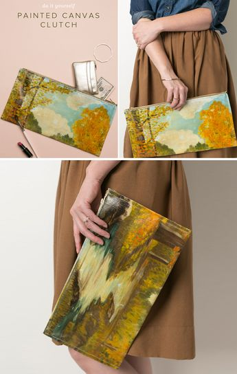 Canvas Painting Clutch DIY
