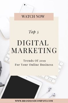 Check out these 5 digital marketing trends of 2019 for your online business. These tips will help your create a social media m… | Simple Marketing Tips | Digital marketing trends, Digital marketing, Digital marketing strategy