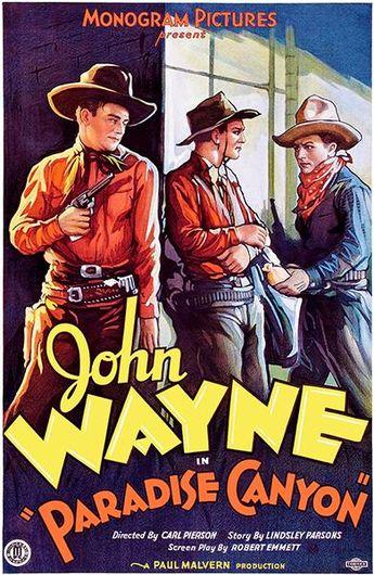 Paradise Canyon - John Wayne - 1935 - Movie Poster