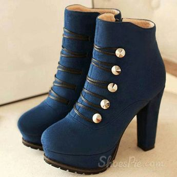 Ankle boots / w gold buttons