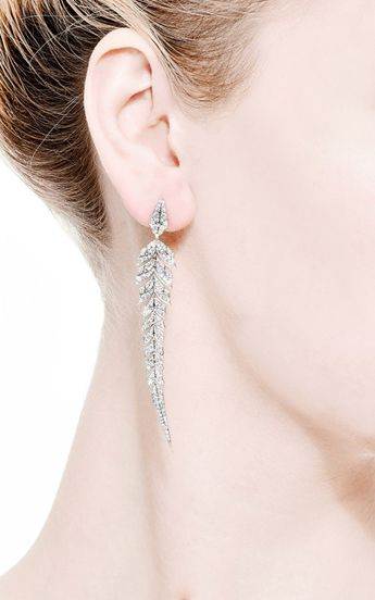 Magnipheasant Feathers Earrings by Stephen Webster for Preorder on Moda Operandi