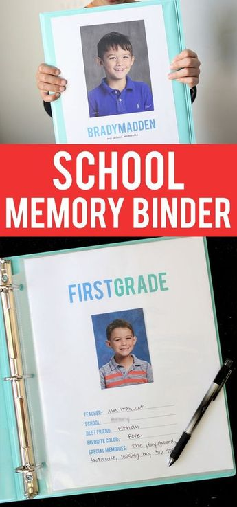 How To Make A School Memory Binder
