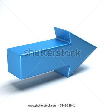 Arrow straight icon blue