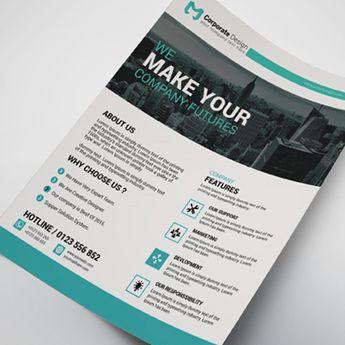 Nebraska Creative Business Flyer Design Template - Graphic Templates