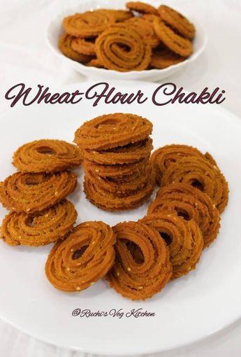 WHEAT FLOUR CHAKLI / CHAKRI | Ruchi's Veg Kitchen