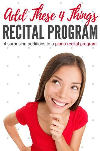 4 valuable 'extras' to add to your recital program.