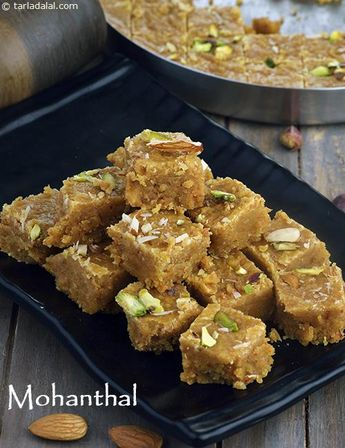 Mohanthal, Traditional Gujarati Mohanthal Mithai