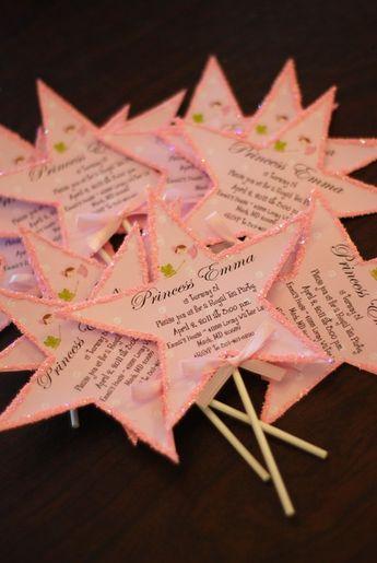 Princess Wand Birthday Tea Party Invitation by palmbeachpolkadots