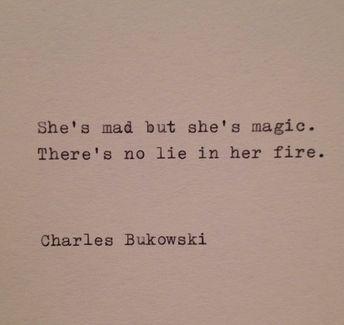 Charles Bukowski Typewriter Quote