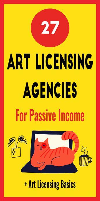 27 Art Licensing Agencies For Passive Income - Cherbear Creative
