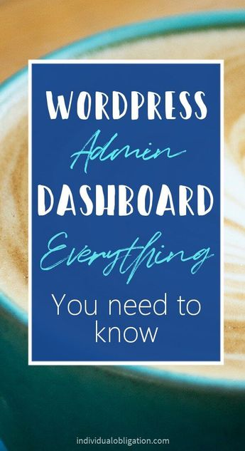 WordPress tutorial on how to use the WordPress Dashboard. This WordPress for beginners step by step tutorial will show you everything you need to know. Including how to use the WordPress dashboard and how you can go about customizing WordPress with WordPress Themes and WordPress plugins specifically for creating a custom WordPress dashboard. #wordpress #bloggingtips #bloggingforbeginners #startablog #wordpressblog