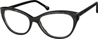 e8dbe4df73136 Zenni Womens Cat-Eye Prescription Eyeglasses Black Plastic 4429221