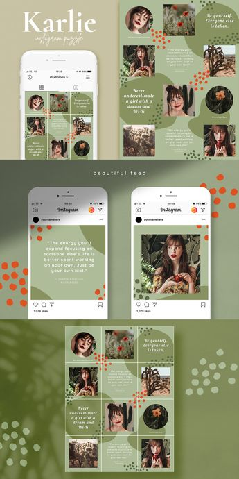 #AD Instagram puzzle grid | Quotes by Studio Loire on @creativemarket