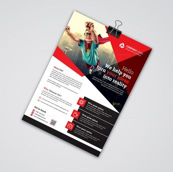 Hero Print Flyer Templates 002522 - Template Catalog