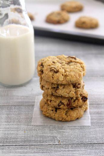 Eggless oatmeal raisin cookies