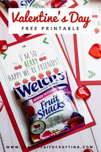 Free Printable for Classmates: Fruit Snack Valentines