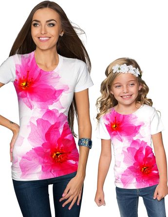 ac9c267f68a0 Beautiful pink and white floral mommy and me matching shirts by  pineappleclothing.com