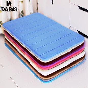 1pcs 40 60cm Bathroom Carpets Absorbent Soft Memory Foam D