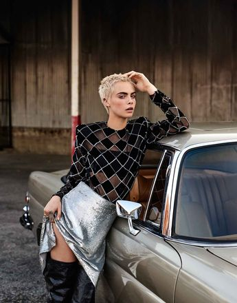 Cara Delevingne in The Edit September 28th, 2017 by Alexandra Nataf