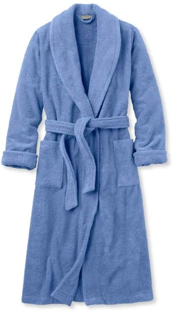 Vintage Stan Herman Cotton Terry Cloth ROBE - Vintage Navy 2818788fe