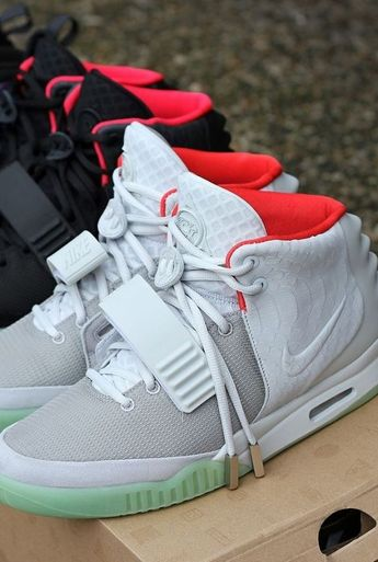 Mens size Nike Air Yeezy NRG Wolf Grey fake shoes